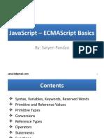 JavaScript – ECMAScript Basics By Satyen