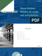 RELATÓRIO - Instituto FSB Pesquisa - SESI SENAI - Novo Ensino Médio