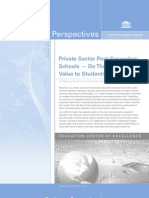 Parthenon Perspectives - Private Post Secondary Schools Value Proposition - White Paper