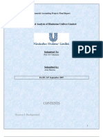 22284437 Financial Analysis of Hindustan Uniliver Limited