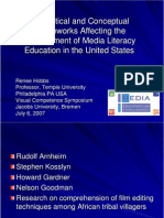 Tehoretical and Conceptual Media Literacy Education