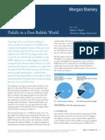 Pitfalls in a Post-Bubble World - Stephen Roach Morgan Stanley