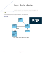Class Diagram Exercises and Solutions
