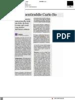 L'indimenticabile Carlo Bo - Il Nuovo Amico del 24 ottobre 2021