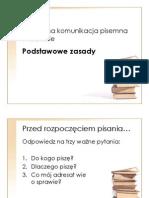 Podstawowe zasady komunikacji pisemnej