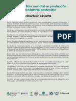 Argentina líder mundial en producción agroindustrial sostenible