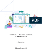 Evaluarea Nationala 2022 - Simulare Octombrie - UPPER MATH