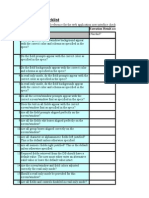 GUI Checklist