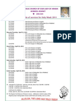 Holy Week Program 2011 Ola