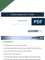 Hatékonyságnövelés a weben - DUNDER.HU