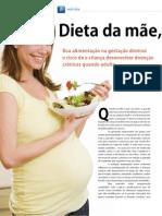 DIETA DA MÃE, SAÚDE DO FILHO