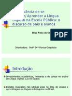 APRESENTAÇÃO FINAL DEFESA ELISA PINTO DE OLIVEIRA