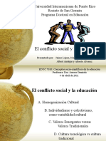 Conflicto Social y Educacion