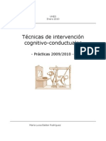 Técnicas de intervención cognitivo-conductuales