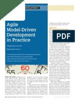 Agile-Model Driven Development