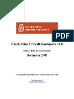 CIS Checkpoint Benchmark v1.0