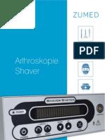 Arthroskopie Shaver, Shavereinheit, Shavergerät, Handstück, Fußpedal