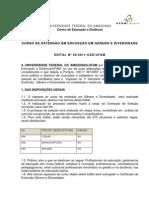Edital 02_2011 CED_UFAM Extensão em Educação em Gênero e Diversidade