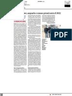 Al Fano Marine Center la visita del rettore Ubertini - Il Corriere Adriatico del 26 novembre 2021