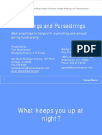 Heartstrings and Purse Strings Best Practices in Nonprofit Marketing