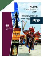 Travel advisory for Nepal