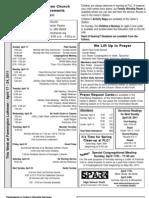 Farmington Lutheran Church Bulletin Announcements 04-17-2011