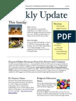 Weekly Update 2011.4.21