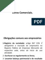 Direito Comercial - Livros Comerciais