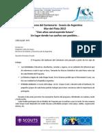 Jamboree de Centenario Scouts de Argentina - Circular 5 - Programa