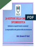 La Cartella Infermieristica 2013