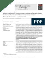 Estudios de ad y Vitalidad Saccharomyces Boulardii