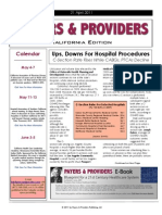 Payers & Providers California Edition – Issue of April 21, 2011