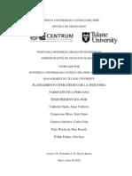 Planeamiento de la Industria Farmacéutica Peruana  2010 - Tesis MBA Tulane Centrum