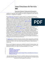 Especificaciones Estaciones de Servicio versión 2006