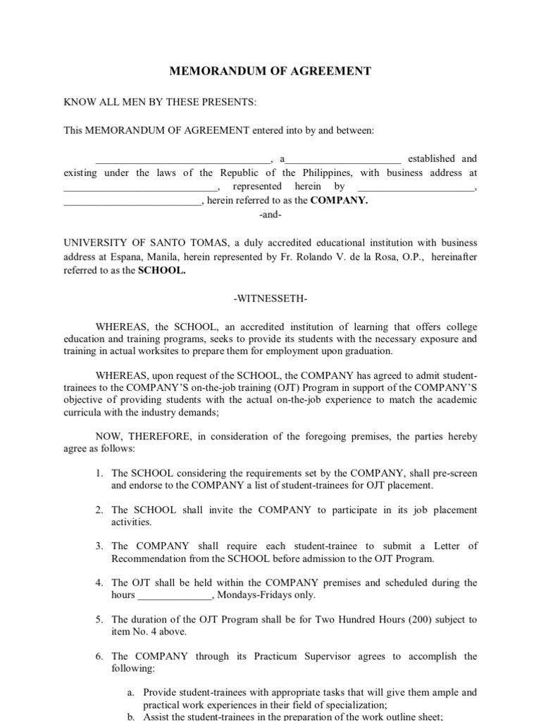 general moa for ojt negligence common law