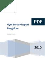 Gym Survey - Bangalore 2010