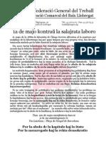 Manifesto por la 1a de majo