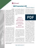ABAP_ProgrammingIn SAP BW