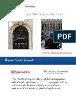 Dual BA Program Between Columbia University and Sciences Po