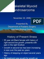 Extraskeletal Myxoid Chondrosarcoma