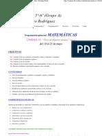 Matemáticas_ 13 - Programación 5º-6º (Grupo A)Tutor_ Domingo Rodríguez