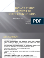 Mission and Vision Statement of Sbi