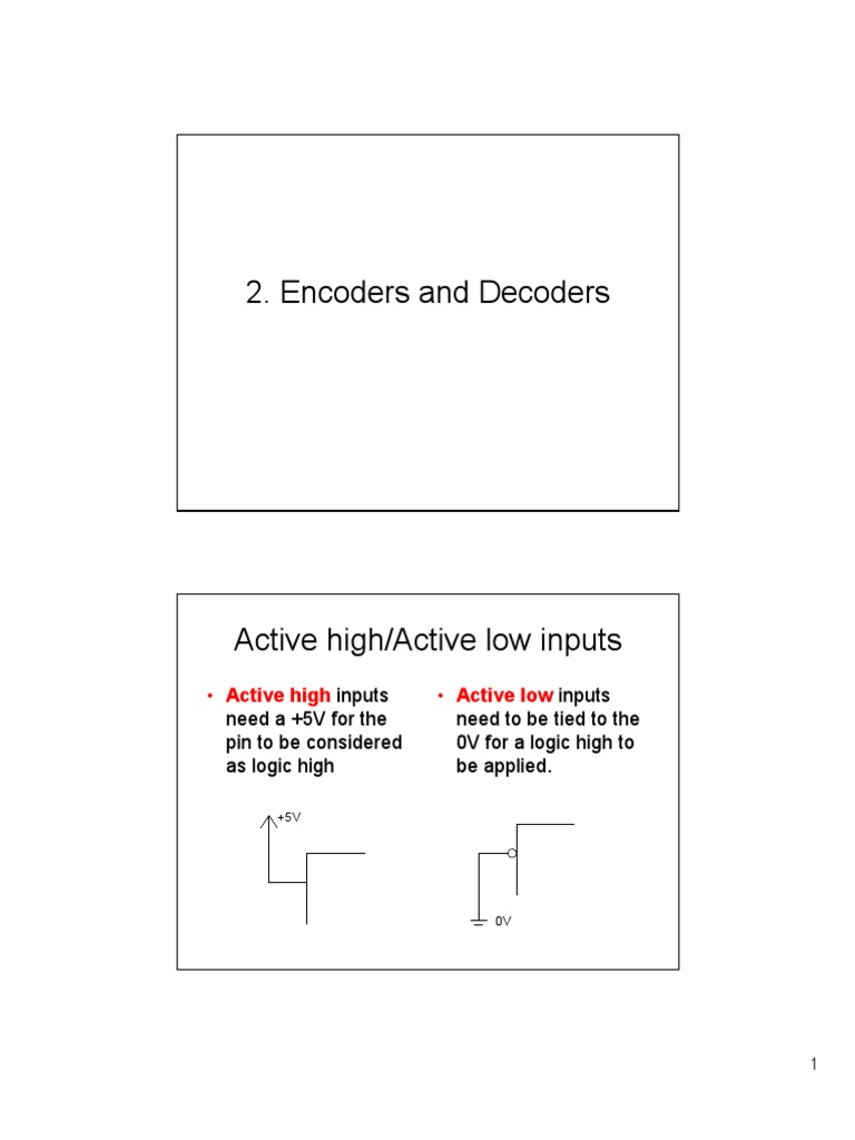 2 Encoders And Decoders Encoder Logic Diagram Truth Table