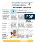 Silver Foxes Newsletter - April 2011 from the Takoma Park Recreation Department