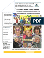 Silver Foxes Newsletter - May 2011 from the Takoma Park Recreation Department