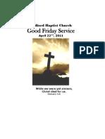Good Friday Service 2011 (iPaper)