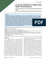 Berberine Improves Glucose Metabolism in Diabetic Rats_PLoS ONE