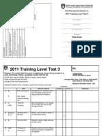 Training Level Test 3