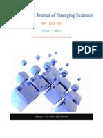 International Journal of Emerging Sciences