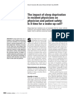 The Impact of Sleep Deprivation in Resident Physicians on Physician and Patient Safety